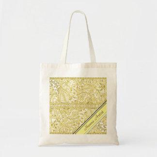 Paisley Passion - Yellow (Henna) Budget Tote Bag
