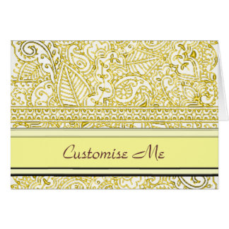 Paisley Passion - Yellow (Henna) Card