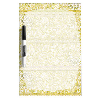 Paisley Passion - Yellow (Henna) Dry Erase Board