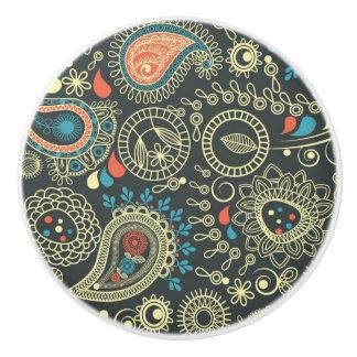 Paisley Pattern 3 Ceramic Knob