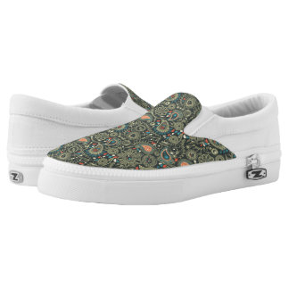 Paisley Pattern 3 Slip-On Shoes