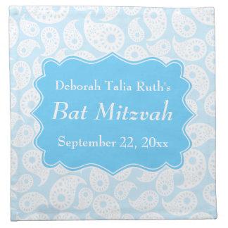 Paisley Pattern in Blue, Bat Mitzvah Napkin