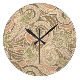 Paisley pattern large clock