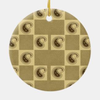 Paisley Pattern Round Ceramic Decoration