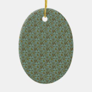 Paisley Patterned Ceramic Oval Decoration