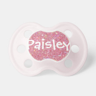 """""""Paisley"""" Personalized Name Glitter Pacifier"""