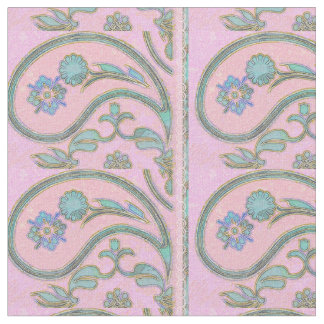 Paisley Pink and Blue Fabric