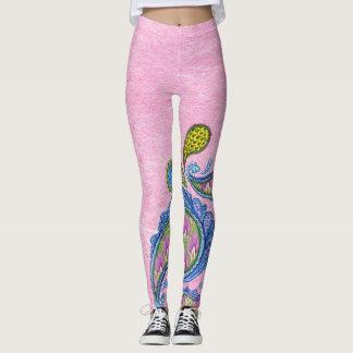 Paisley Pink Leggings