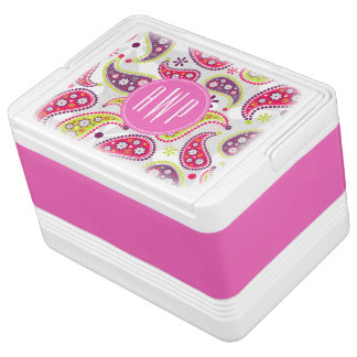 Paisley & Pink Monogram Igloo Cooler