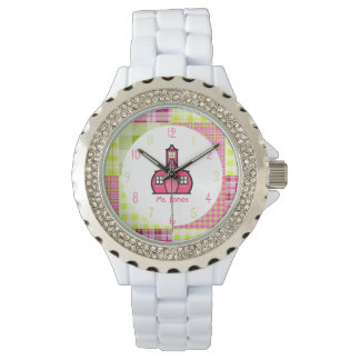 Paisley & Pink Schoolhouse Teacher Watch