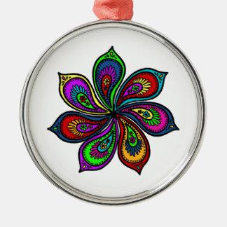 Paisley Pinwheel of Colors Ornament