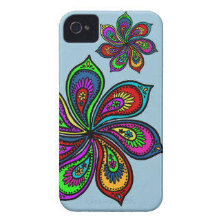 Paisley Pinwheel of Colors Phone Case iPhone 4 Case-Mate Case
