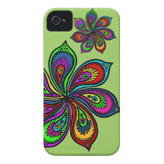Paisley Pinwheel of Colors Phone Case iPhone 4 Cases