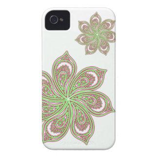 Paisley Pinwheel Pink Green iPhone 4 Cover