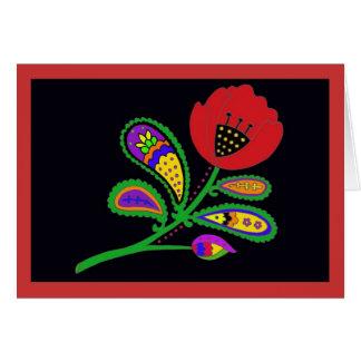 Paisley Poppy Card