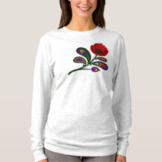 Paisley Poppy Ukrainian Folk Art T-Shirt