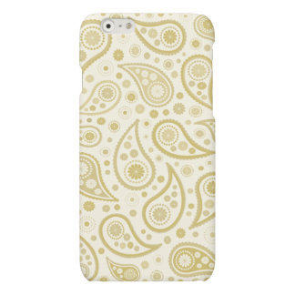 Paisley Print in Cream & Golds iPhone 6 Plus Case
