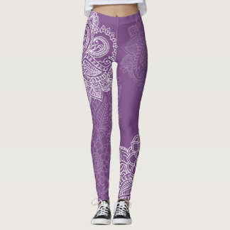 Paisley Print Style Leggings 2