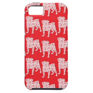 Paisley Pugs Red Tough iPhone 5 Case