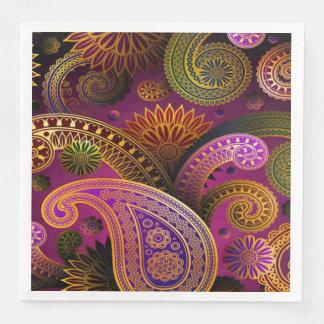 Paisley Purple Disposable Serviettes
