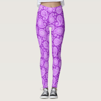 Paisley purple elegant yoga pants