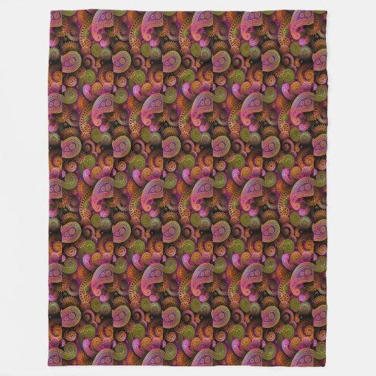 Paisley Purple Fleece Blanket
