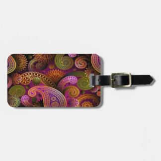 Paisley Purple Luggage Tag