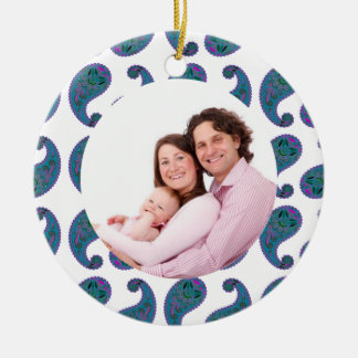 Paisley Round Ceramic Decoration