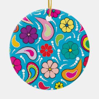 """paisley"" round ceramic decoration"