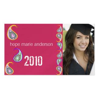 Paisley Senior Pictures Senior Profile Card Business Cards