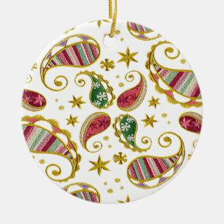 Paisley Solstice Round Ceramic Decoration