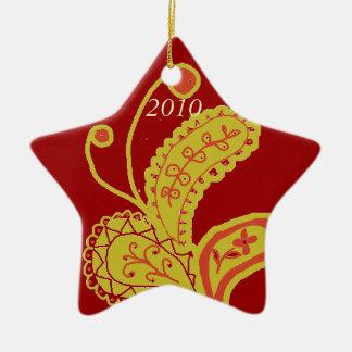 Paisley Star Ornament