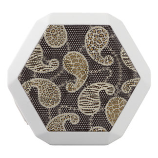 Paisley style background white boombot rex bluetooth speaker