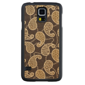 Paisley style background carved maple galaxy s5 case