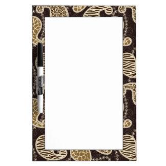 Paisley style background dry erase whiteboards