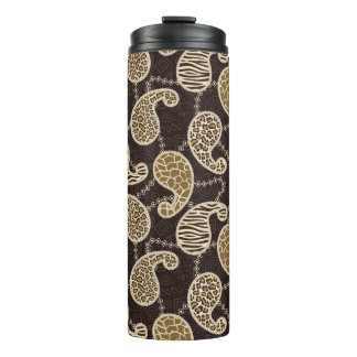 Paisley style background thermal tumbler