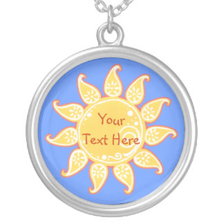 Paisley Summer Sun Necklace