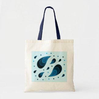Paisley Teal Tote Bag