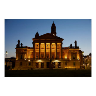 Paisley Town Hall at Night Poster
