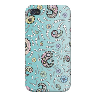 paisley turquoise cover for iPhone 4