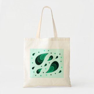 Paisley Turquoise Tote Bag
