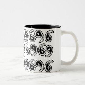 Paisley Two-Tone Coffee Mug