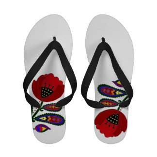 Paisley Ukrainian Poppy Sandals