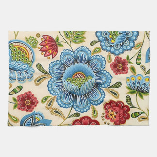 Paisley Vintage Retro Floral Indian Pattern Hand Towel