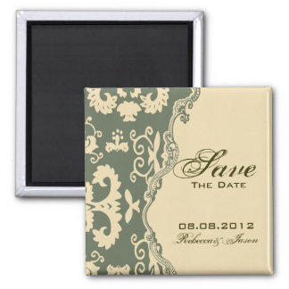 paisley western country wedding SAVE THE DATE Magnet
