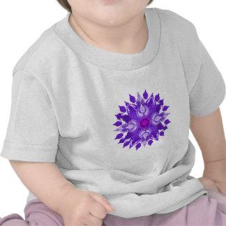 Paisley wheel violet mandala sun flower tshirts