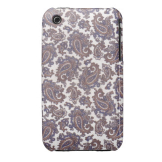Paisley White and Gold iPhone 3 Barely There Case iPhone 3 Case-Mate Cases