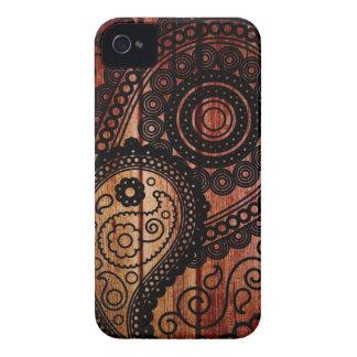 paisley wood panels iPhone 4 Case-Mate case