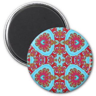 paisleyesque 6 cm round magnet
