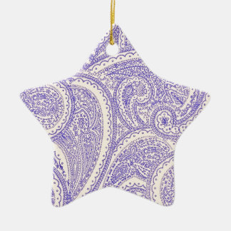 paisleys ceramic star decoration